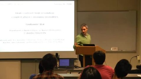 Thumbnail for entry CAM Colloquium: Guillaume Bal (Columbia) - Hybrid Inverse Problems in Medical Imaging