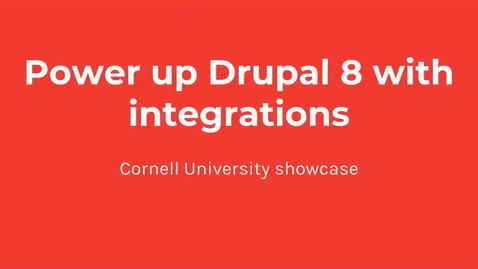 Thumbnail for entry DrupalCamp 2018: Connecting a Cornell Instance of Salesforce to a Drupal Site