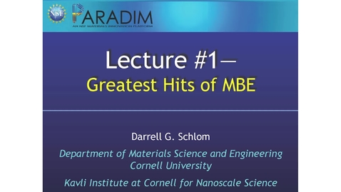 Thumbnail for entry Greatest Hits of MBE (Schlom)