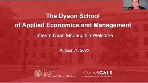 Thumbnail for entry Dyson New Student Orientation | Welcome from Interim Dean McLaughlin