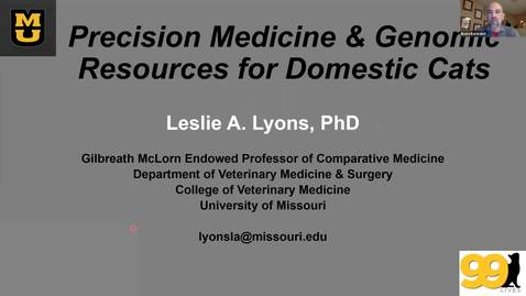 Thumbnail for entry Baker Institute virtual seminar series - Dr. Leslie Lyons