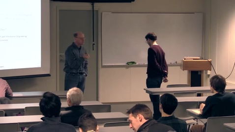 Thumbnail for entry CAM Colloquium, 2017-02-10 - Damek Davis: A SMART Stochastic Algorithm for Nonconvex Optimization with Applications to Robust Machine Learning