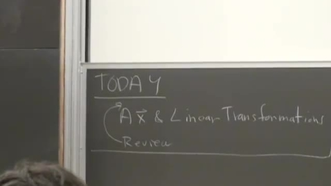 Thumbnail for entry 05 - Review Transformations and Linear Transformations Session 5