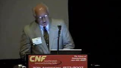 Thumbnail for entry CNF 30th Anniversary Welcoming Remarks - Edward Wolf