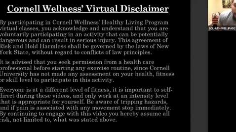 Thumbnail for entry Cornell Wellness Spring Virtual Bootcamp Class #6
