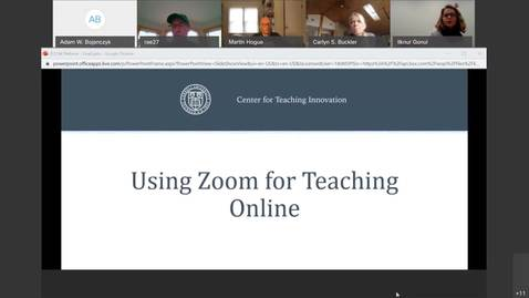 Thumbnail for entry Introduction to using Zoom for Teaching Online