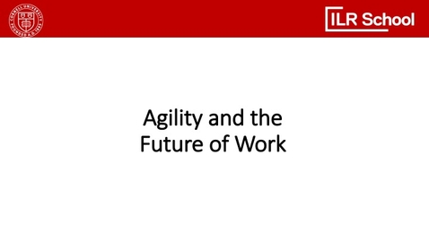 Thumbnail for entry Agility and the Future of Work