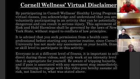 Thumbnail for entry Final Clip of Cornell Wellness Fall 2020 Bootcamp Class Series 2 Class #7