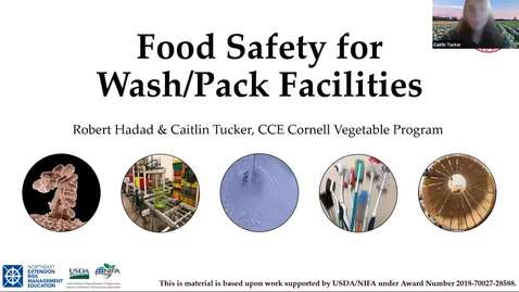 Thumbnail for entry Food Safety for Wash/Pack Facilities - Part 1: Principles of Food Safety