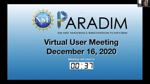 Thumbnail for entry 2020 PARADIM Annual User Meeting (remote)