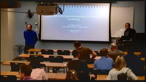 Thumbnail for entry Bangs Lectures - Sridhar Tayur - OR/OM Entrepreneurship in the 21st Century