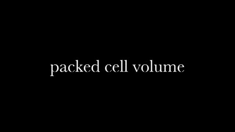 Thumbnail for entry Packed Cell Volume Test
