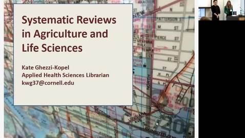 Thumbnail for entry 2018 Science Immersion_Systematic Reviews