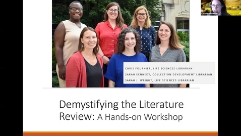Thumbnail for entry Demystifying the Literature Review: A Hands-on Workshop