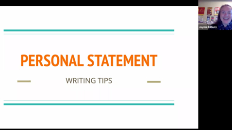 Thumbnail for entry Writing Tutorial | Health Careers Personal Statements