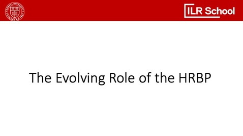 Thumbnail for entry The Evolving Role of the HRBP