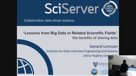 Thumbnail for entry Lessons from Big Data in Related Scientific Fields (Lemson)