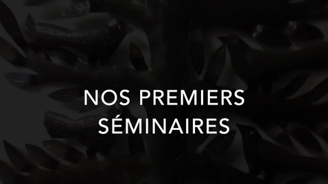 Thumbnail for entry Nos premiers séminaires (2019)