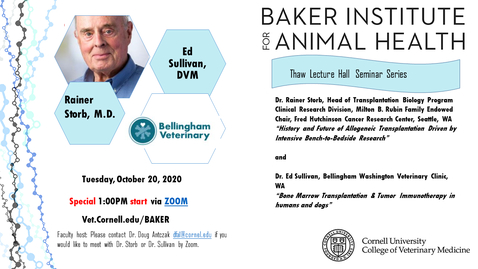 Thumbnail for entry Baker Institute for Animal Health - Seminar featuring Dr. Rainer Storb & Dr.  Ed Sullivan