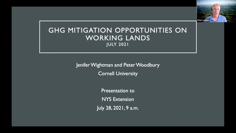 Thumbnail for entry Clip of CLCPA Policy Update 3-Greenhouse gas mitigation opportunities for New York working lands