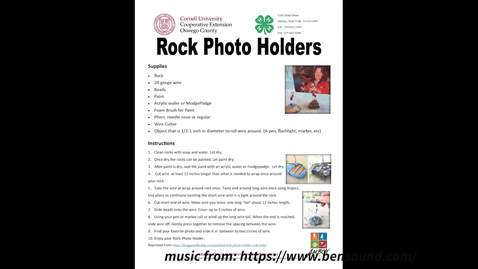 Thumbnail for entry CCE Oswego 4-H Rock Picture Holder