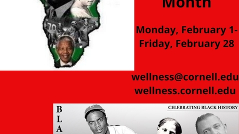 Thumbnail for entry Cornell Wellness Celebrates Black History Month: Interview with Zebadiah Hall