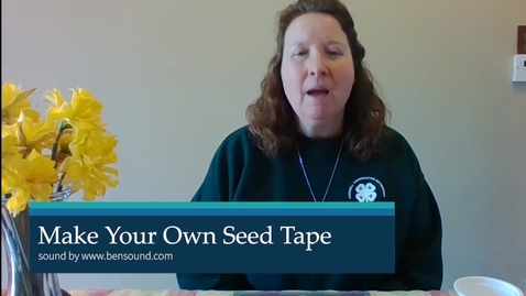 Thumbnail for entry CCEOswego4-H Make Your Own Seed Tape.mp4