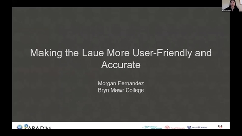 Thumbnail for entry Morgan Fernandez 2020 REU final presentation