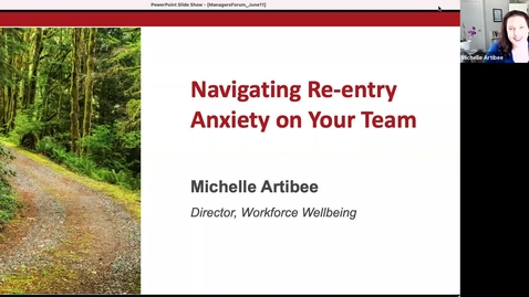 Thumbnail for entry Managers Forum 6/11 - Re-entry Anxiety