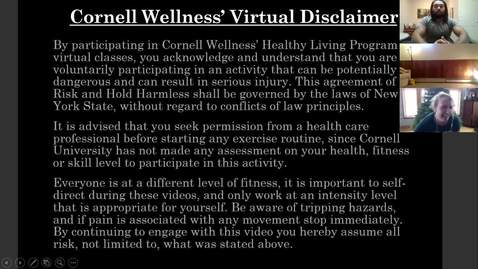Thumbnail for entry Final Clip of Cornell Wellness Fall 2020 Bootcamp Class Series 2 Class #3