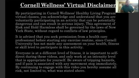 Thumbnail for entry Cornell Wellness Virtual Bootcamp Class #2