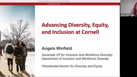 Thumbnail for entry Managers Forum 1/15 - Advancing Diversity, Equity, and Inclusion at Cornell