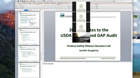 Thumbnail for entry Produce Safety Educator's Call #29 - Part II