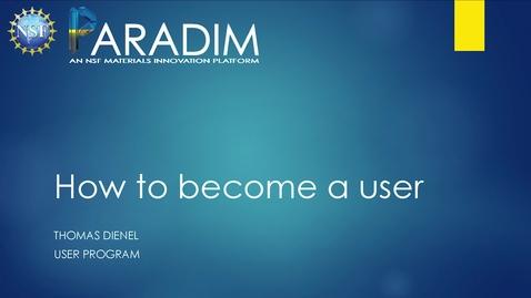 Thumbnail for entry Preparing a PARADIM Proposal (Dienel)