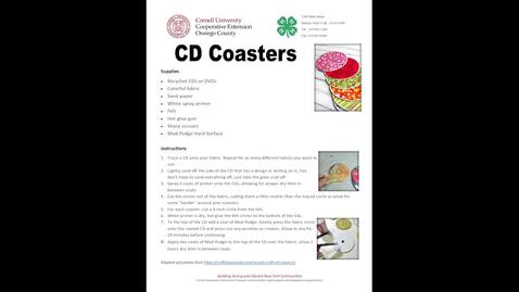 Thumbnail for entry CCE Oswego 4-H Repurpose CDs into Coasters