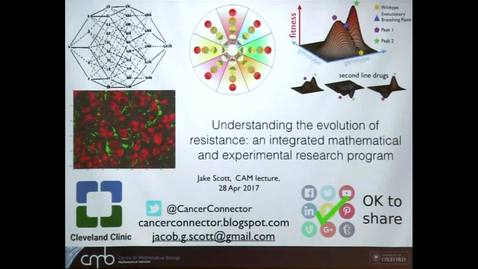 Thumbnail for entry CAM Colloquium, 2017-04-28, Jacob Scott: Understanding the evolution of resistance: a comprehensive and integrated mathematical and experimental research