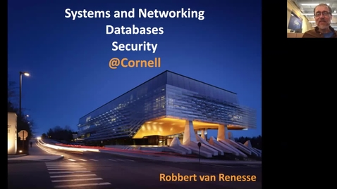 Thumbnail for entry Visit Day - Systems and Networking, Databases, and Security