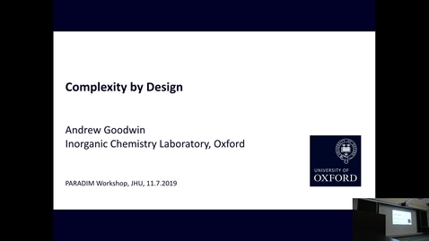 Thumbnail for entry Complexity By Design (Goodwin-Lecture 2)