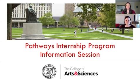Thumbnail for entry Pathways Internship Program Information Session
