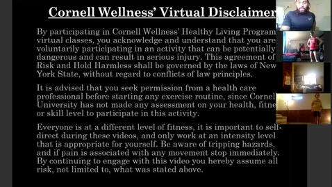 Thumbnail for entry Cornell Wellness Virtual Bootcamp Class #6