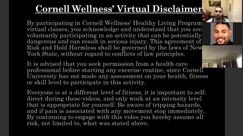 Thumbnail for entry Cornell Wellness Movement for the Mind Virtual Bootcamp Class #2