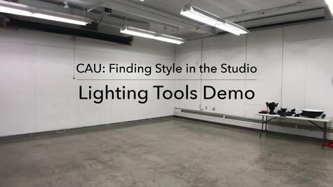 Thumbnail for entry Lighting Tools Demo