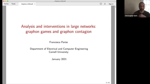 Thumbnail for entry CAM Colloquium - Francesca Parise (3/12/21)