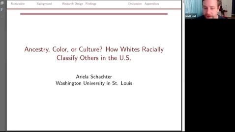 Thumbnail for entry Cornell Population Center Seminar Recording | Ariela Schachter