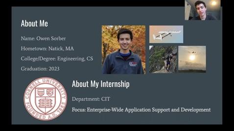 Thumbnail for entry Owen Sorber - Enterprise Applications Support