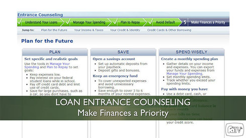 Loan Entrance Counseling - Make Finances a Priority