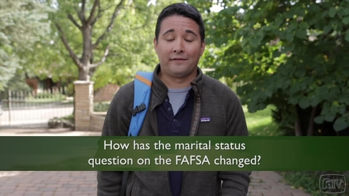 How has the marital status question on the FAFSA changed?