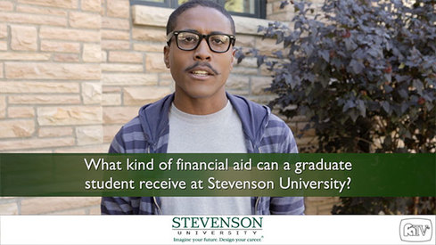 What kind of financial aid can a graduate student receive at Stevenson University?