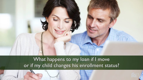 What happens to my loan if I move or if my child changes his enrollment status?