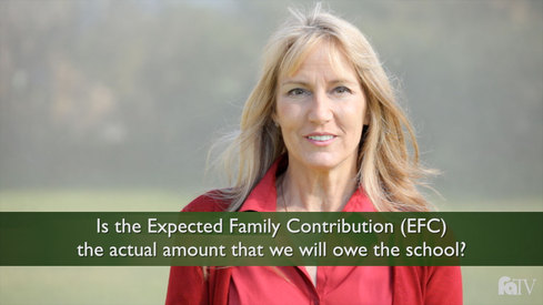 Is the Expected Family Contribution (EFC) the actual amount that we will owe the school?